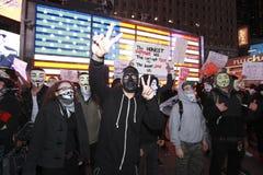 Million de masque mars dans le Times Square Photos libres de droits