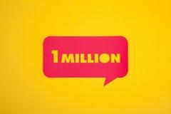 1 million de signe Photos libres de droits