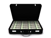 Million dollar briefcase Stock Photography