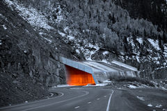 Million dollar highway in Colorado Stock Photography