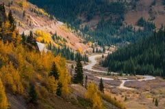 Million dollar highway Colorado. Scenic autumn landscape by Million dollar high way in Colorado royalty free stock photography