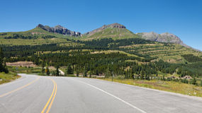 Million Dollar Highway at Molas Pass, Colorado Stock Photography