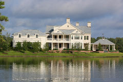Lake Front 5 Million Dollar Home Stock Images