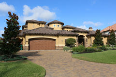 Million Dollar Homes. Million dollar home with beauitful brick drive stock photography
