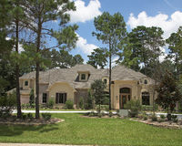 Million Dollar Homes Series. New million dollar homes in affluent neighborhood, sales are steady stock images