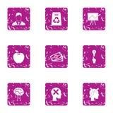 Million dollar idea icons set, grunge style. Million dollar idea icons set. Grunge set of 9 million dollar idea vector icons for web isolated on white background Stock Image