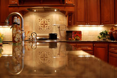 Million Dollar Kitchen. Kitchen in a newly constructed million dollar home Stock Photography