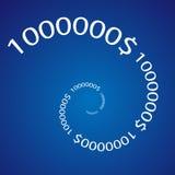 Million dollar number. Spiral funnel royalty free illustration