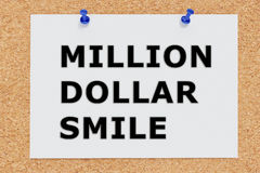 Million Dollar Smile concept Royalty Free Stock Images