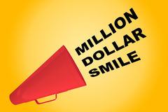 Million Dollar Smile concept Royalty Free Stock Photos