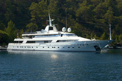 Million dollar yacht. A luxury million dollar yacht Stock Image