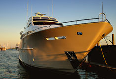 Million dollar yatch. During sunset Stock Photos