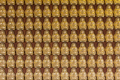 Million of golden Buddha statue in chinese temple Nonthaburi,Thailand. Stock Photo