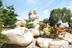 Million Jahre des Steinpark-, Pattaya Thailand 05-May-2013 Lizenzfreies Stockfoto