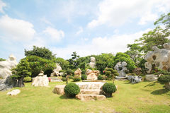 Million Jahre des Steinpark-, Pattaya Thailand 05-May-2013 Stockbilder