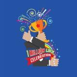 1 Million Likes Celebration. 1 Million Likes Celebration Vector Illustration royalty free illustration