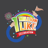 1 Million Likes Celebration. 1 Million Likes Celebration Vector Illustration vector illustration