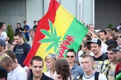 Million Marijuana March. WARSAW - MAY 26: Unidentified march participants on legalizing marijuana during the Million Marijuana March, on May 26, 2012 in Warsaw Stock Photos
