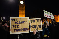 Million Mask March in London Stock Image