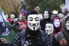 Million Mask Rally royalty free stock images