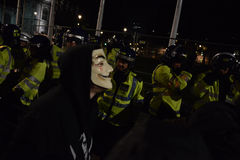 Million Maske März in London Lizenzfreie Stockfotografie