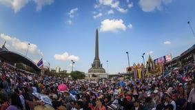 Million of protesters walked for anti government corruption (Pri. BANGKOK,THAILAND- JANUARY 14 : Million of protesters walked for anti government corruption ( Royalty Free Stock Photos