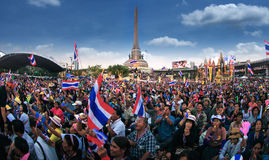 Million of protesters walked for anti government corruption (Pri. BANGKOK,THAILAND- JANUARY 14 : Million of protesters walked for anti government corruption ( Stock Photo
