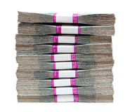 Million rubles - stack of bills in packs Royalty Free Stock Photography