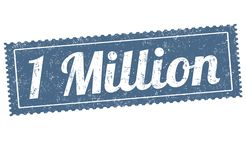 1 million sign or stamp. On white background, vector illustration royalty free illustration