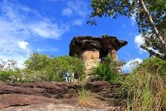 The million years mushroom stone pillar. Sao chaleang  the million years mushroom stone pillar Stock Photography