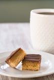 Millionaire Bars Caramel Chocolate Shortbread Candy Cookies Royalty Free Stock Photos