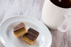 Millionaire Bars Chocolate Caramel Candy Cookie Bar Royalty Free Stock Photography