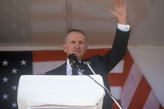 Millionaire businessman and Presidential candidate Ross Perot speaks at a petition drive in Orange County California. 1992 Stock Photos