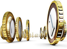 Millionaire. High resolution 3D rendering of an money concept Stock Images