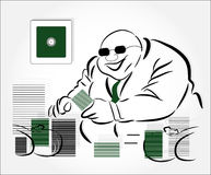 Millionaire with money Stock Image