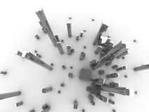 Millionenstadt Stockbild
