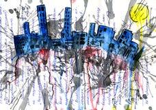Millionenstadt und Architektur und Haus und Sohn Lizenzfreie Stockbilder