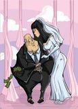 Millionnaire de mariage illustration de vecteur