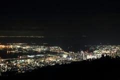 10 millions de dollars de vue de nuit de Kobe Photographie stock