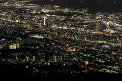 10 millions de dollars de vue de nuit de Kobe Image libre de droits