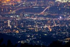 10 millions de dollars de vue de nuit. KOBE. JAPON Images libres de droits