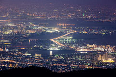 10 millions de dollars de vue de nuit. KOBE. JAPON Photo stock