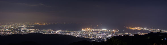 10 millions de dollars de vue de nuit. KOBE. JAPON Photos stock