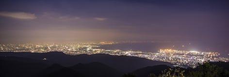 10 millions de dollars de vue de nuit. KOBE. JAPON Images stock