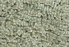 Millions of Dollars - 20 Dollar Bills. Rendered with Blender 3D royalty free illustration