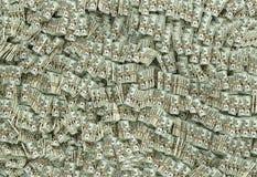 Millions of Dollars - 20 Dollar Bills Stock Photo
