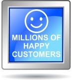 Millions of happy customers Royalty Free Stock Photos