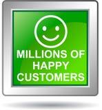 Millions of happy customers Stock Photo