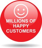 Millions of happy customers Stock Images
