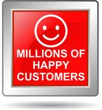 Millions of happy customers Stock Photography